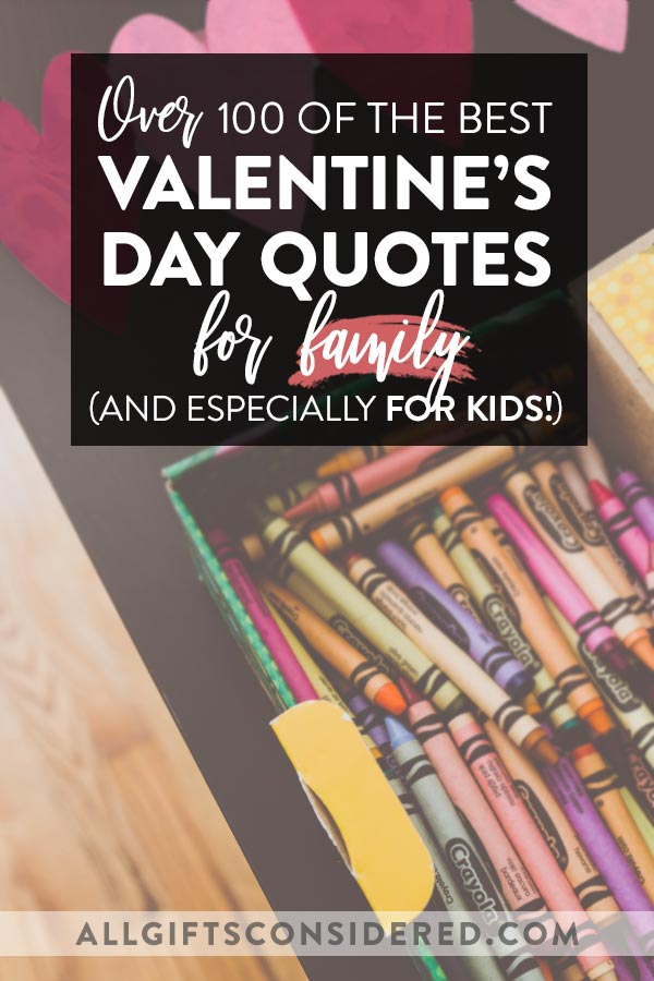 Family Valentine's Day Card Quotes for Kids