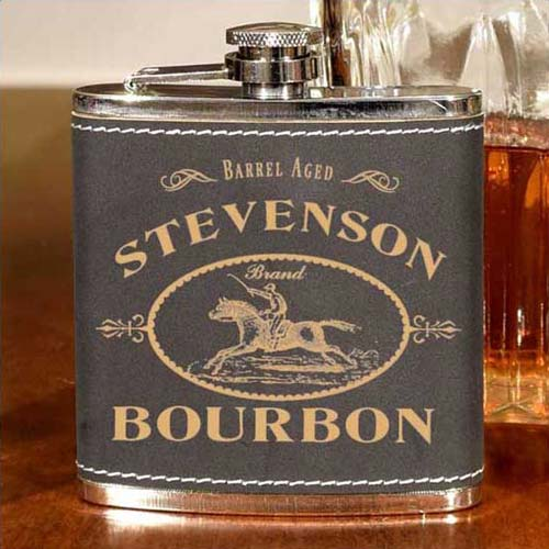 Bourbon Lover Gifts - Custom Leather Flask
