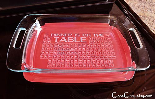 Gifts for Science Nerds - Periodic Table Glass Bakeware