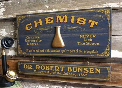 Chemistry Gifts - Customized Scientist Plaque