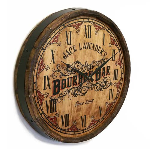 Personalized Bourbon Bar Clock Sign