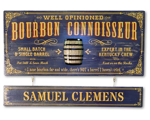 Bourbon Connoisseur Sign - Personalized Bourbon Lover Gifts