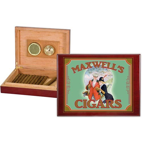 Personalized Golf Gifts: Cigar Box