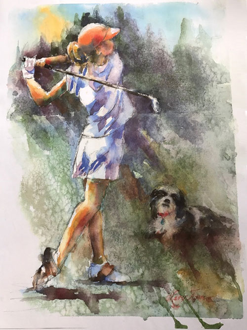Golf Gifts for Her - Custom Painting