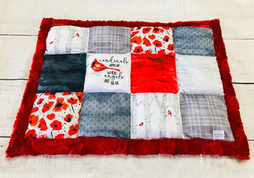 Weighted Lap Pad Cardinal Quilt