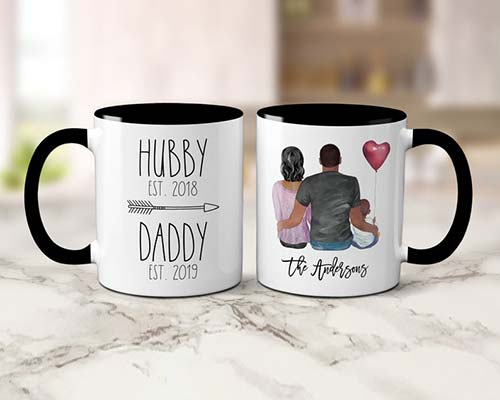 First Father's Day Gift Idea: Custom Coffee Mug