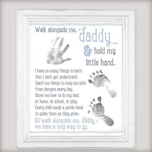 Baby Footprint First Father's Day Gift for New Dad