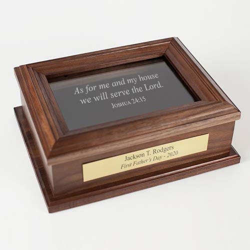 Custom Keepsake Box First Father's Day Gift