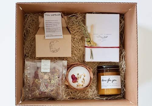 Helpful sympathy gift basket for grieving parents