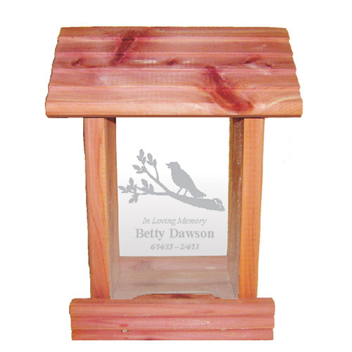 Memorial Bird Feeder with Personalized Inscription