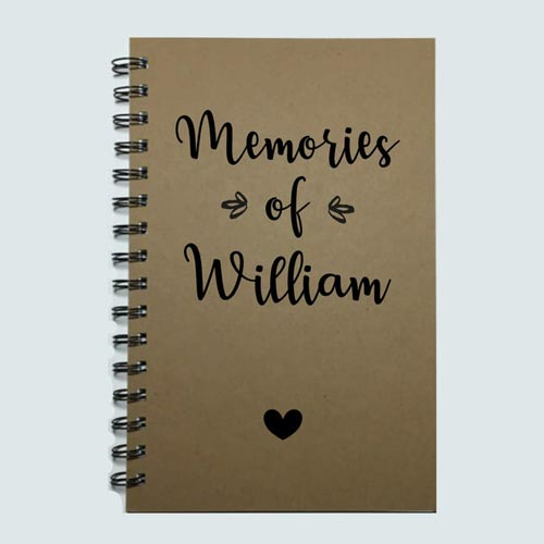 "Personalized ""Memories of You"" Sympathy Journal - Gifts for Grieving Parents"