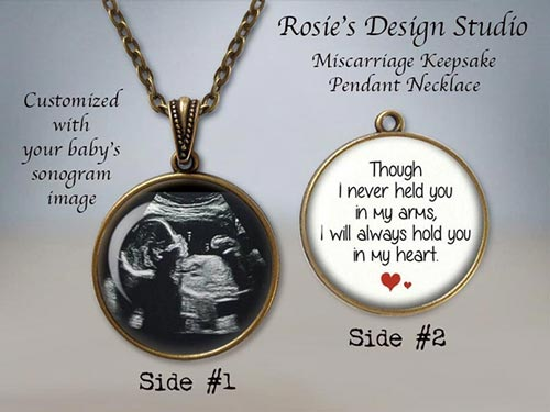 Miscarriage Sympathy Gifts - Sonogram Necklace