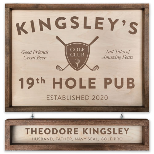 Personalized Golfer Sign - 19th Hole Pub