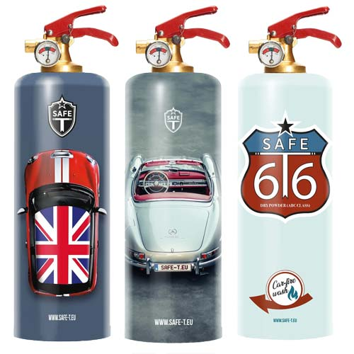 Designer Fire Extinguishers for Car Enthusiasts