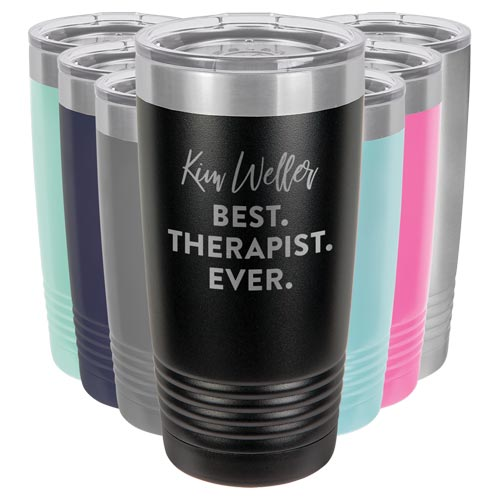 Personalized Best Therapist Ever Tumbler