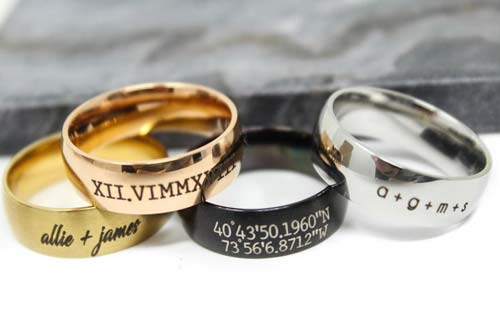 Custom Engraved Ring for Men