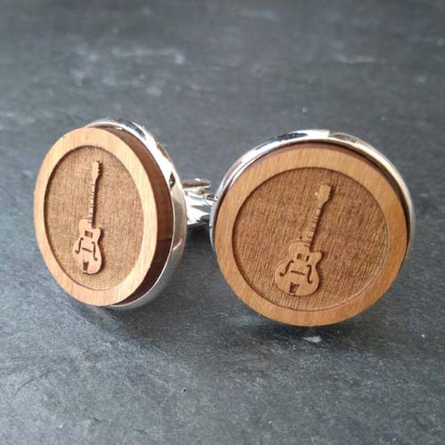 Cool Gifts for Men - Wooden Cuff Links