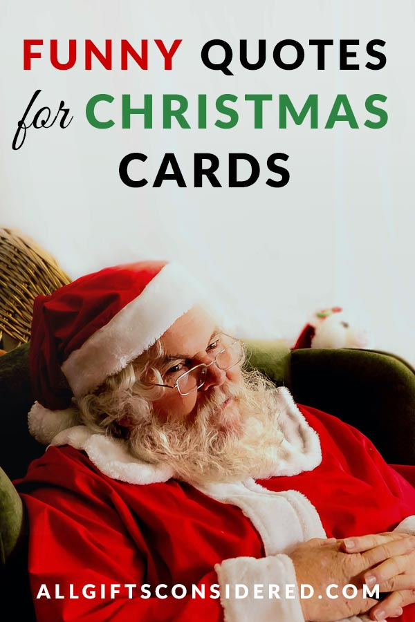 Funny Quotes for Christmas Cards