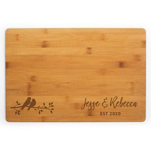 Lovebirds Personalized Cutting Board