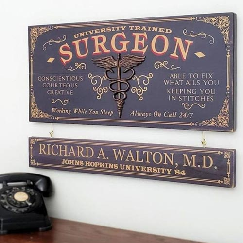 Vintage Plaque Gift Idea for Surgeons