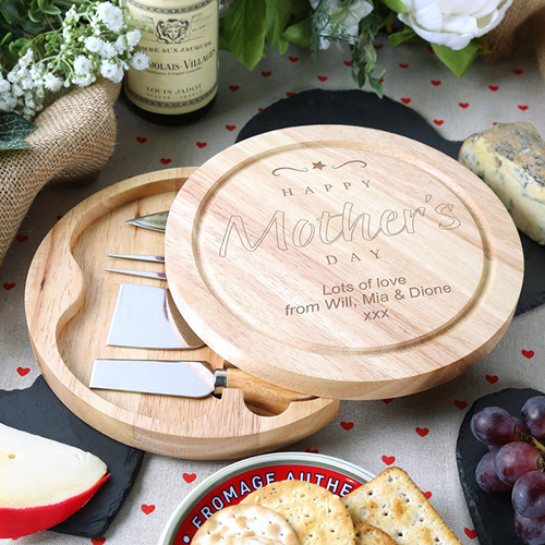 Mother's Day Gift Wooden Cheese Board