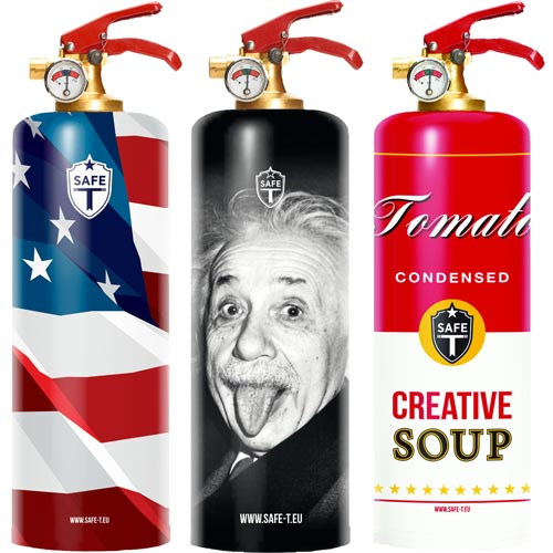 Designer Fire Extinguishers for Orthodontist Office