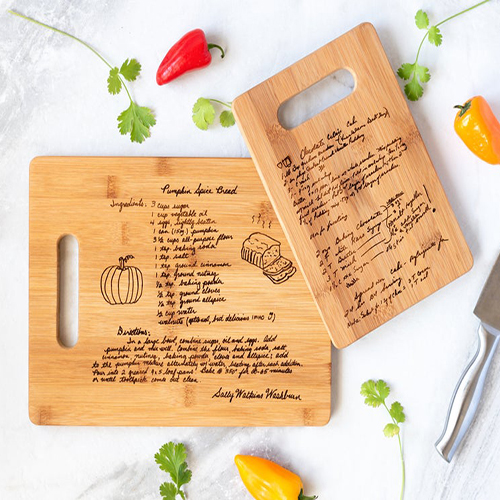 Personalized Family Recipe Cutting Board