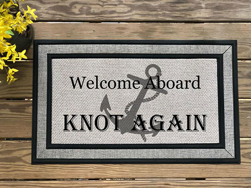 Fishing Boat Welcome Mat