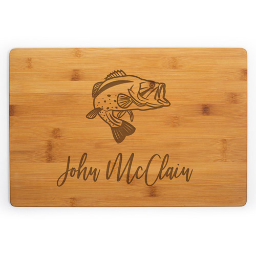 Personalized Fishing Cutting Board (Bamboo Wood)
