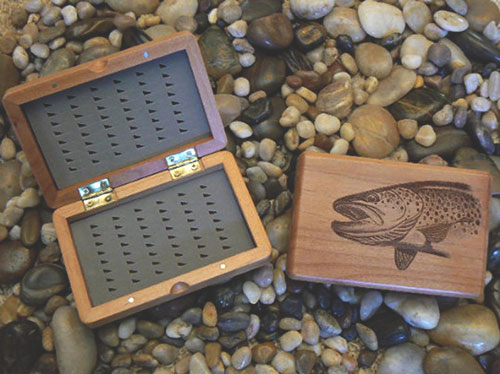 Fisherman Gifts: Engraved Fly Fishing Box
