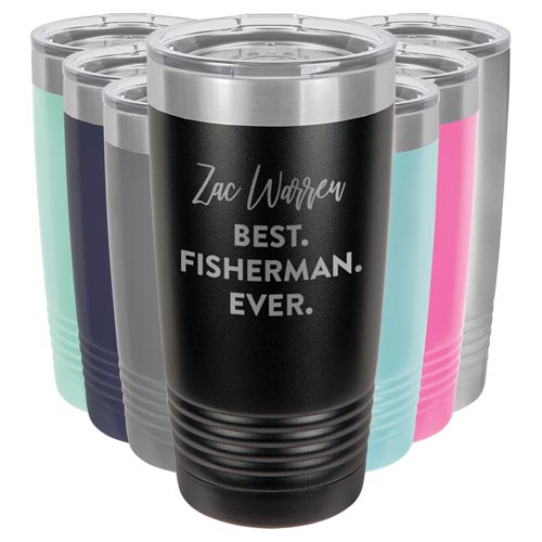 BEST FISHERMAN EVER Personalized Fishing Tumbler Mug