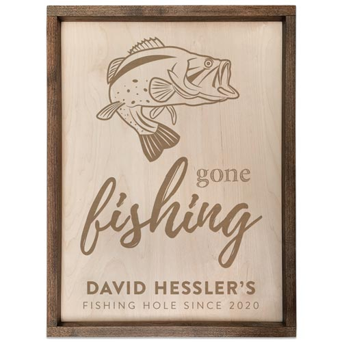 Best Fishing Gifts for an Avid Fisherman - Gone Fishing Plaque