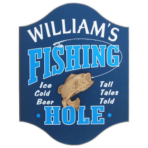 Personalized Fishing Hole Plaque