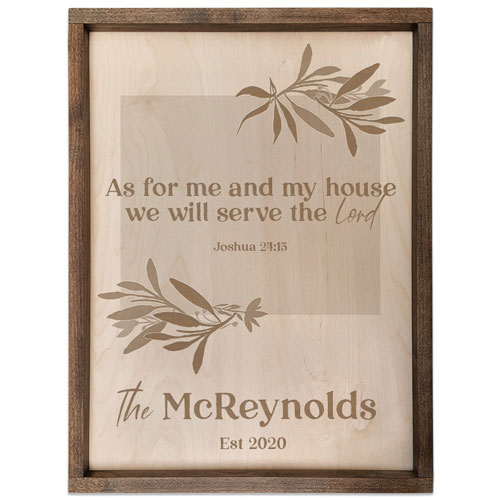 Personalized Wooden Family Name Scripture Quote Plaque