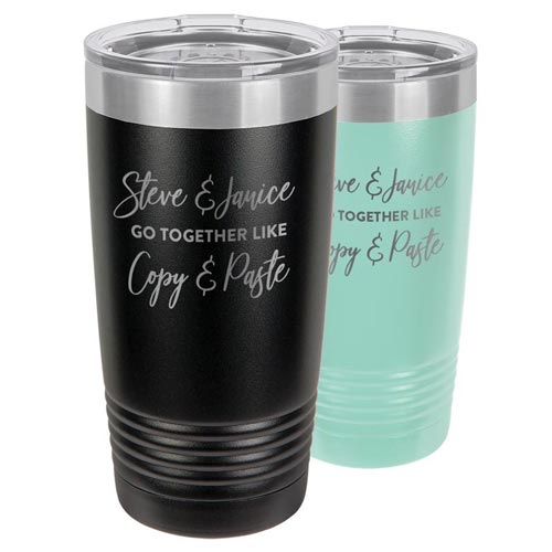 Custom engraved tumbler gift idea