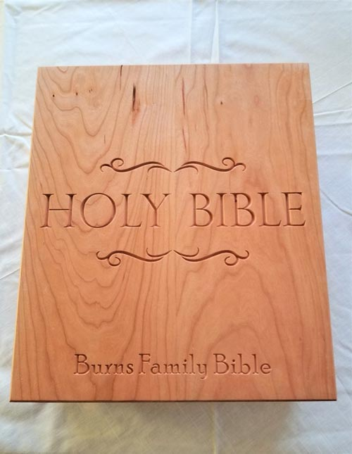 Personalized family keepsake Bible gift idea