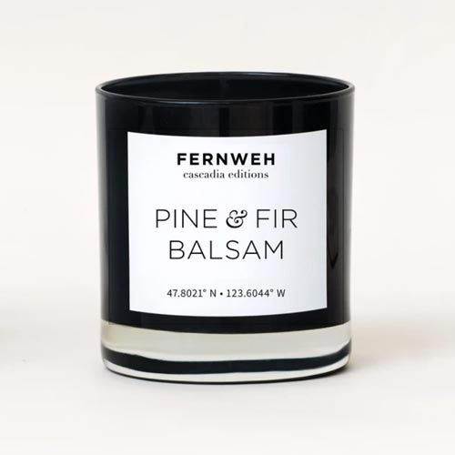 Relaxing pine and fir balsam candle gift idea