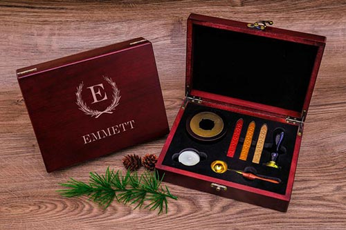 Personalized wax seal kit men's idea
