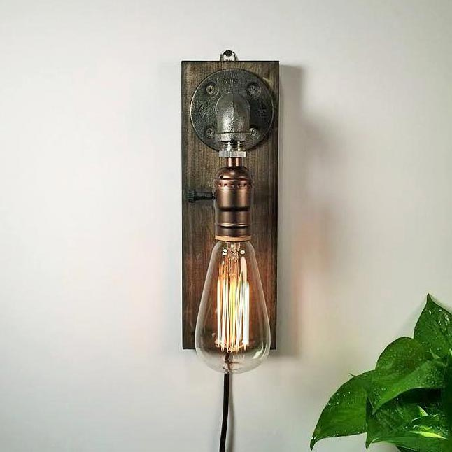 Steam punk wall sconce men's gift idea