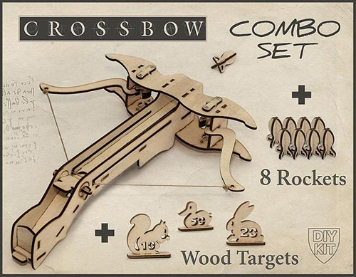 Men's wood crossbow DIY gift idea