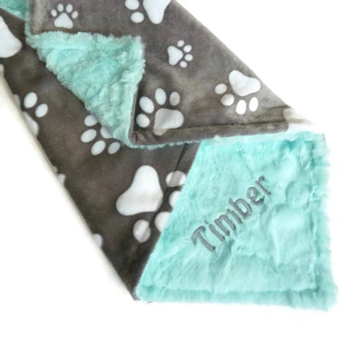 Personalized dog blanket dog walkers gift idea