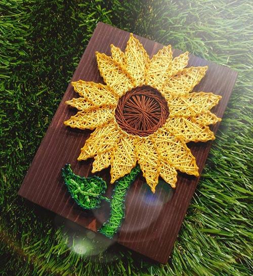 OT gifts: DIY sunflower string art kit