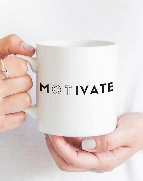 Occupational therapist gifts: Motivate mug