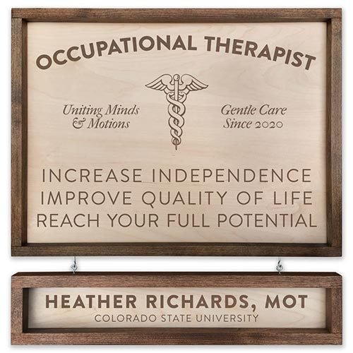 Occupational therapist gift idea: Pacific crest therapist sign