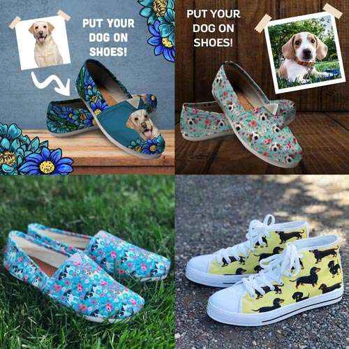 Gifts for Dog Walkers - Dog-Themed Casual Shoes