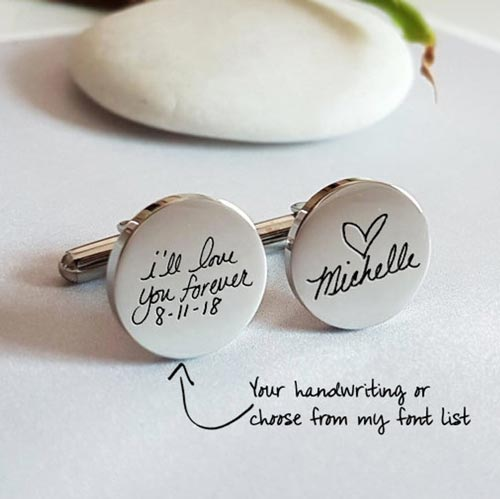 Personalized cuff links for men