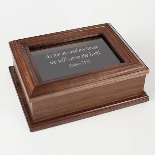 Wood keepsake box gift idea for guys