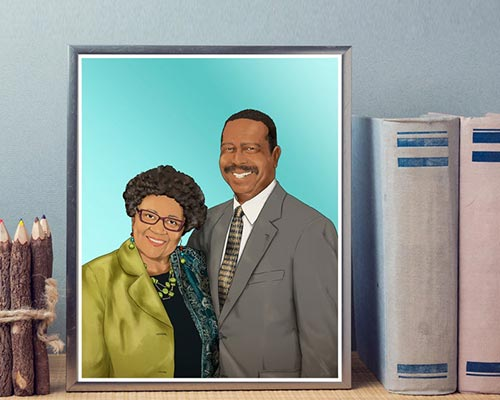 Custom Portrait for Aunt and Uncle