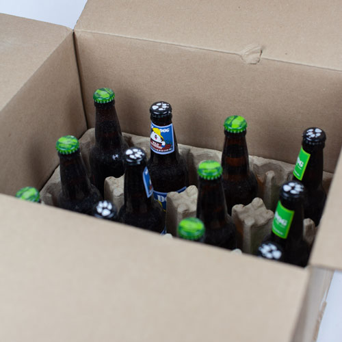 Unboxing the this month's beer selection