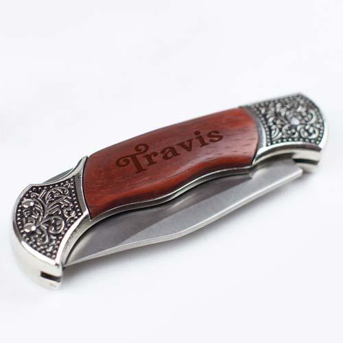 Old Fashioned Pocket Knife - Engraved